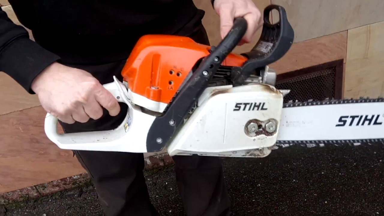 how to start a stihl chainsaw ms 391