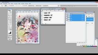 Tutorial - Vierfarbdruck - CMYK Farbseparation für den Siebdruck in Photoshop erstellen