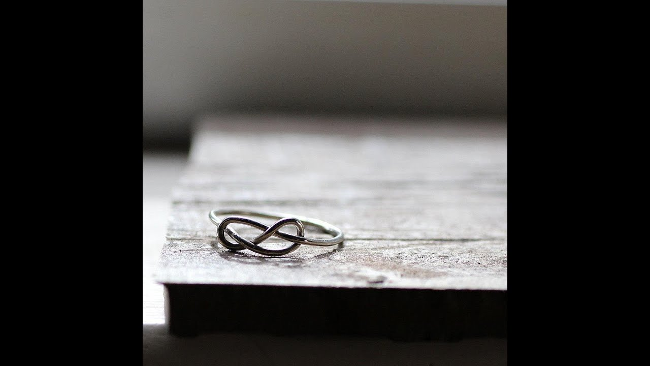 How to make a sterling silver infinity knot ring in any size ...