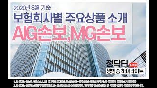 [생방송 하이라이트]보험회사별 주요상품소개_AIG손보,…