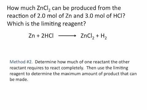 Limiting Reagent - Chemistry Tutorial