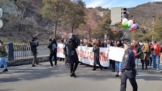 """Движение """"Для Грузии"""" провело акцию протеста у резиденции Иванишвили - видео"""