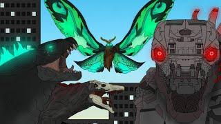 Godzilla vs Mecha Godzilla | gojiramania | stick nodes | Godzilla, Mecha Godzilla,alpha skullcrawler