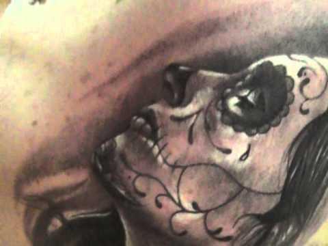 Dia de la muerte girl srdjan 39 39 lizard tattoo 39 39 mod youtube for La tattoo removal