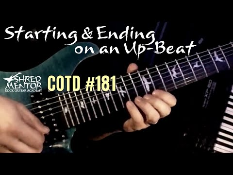 Starting & Ending on an Up-Beat | ShredMentor Challenge of the Day #181