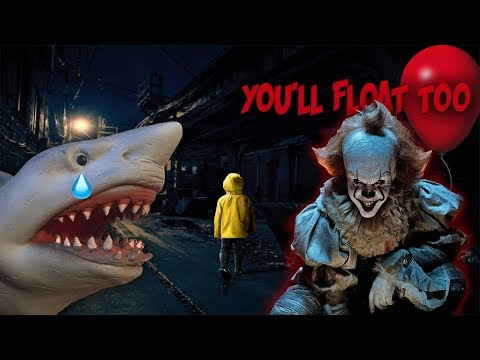 SHARK PUPPET MEETS PENNYWIS3 FROM IT!!!!!