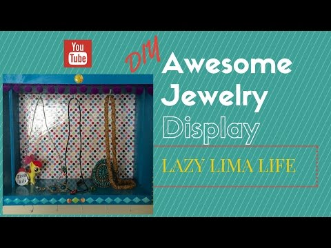 DIY Jewelry Display from a Wooden Crate!