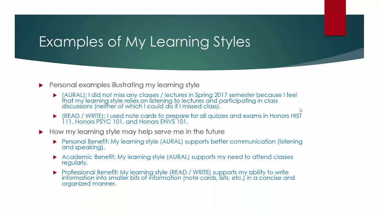 adults Learning for presentation styles