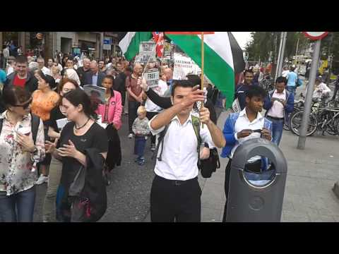 Ireland Palestine Solidarity Campaign protest march against the war in Gaza