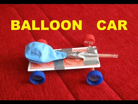 How to make a balloon powered car - SCIENCE PROJECT - YouTube