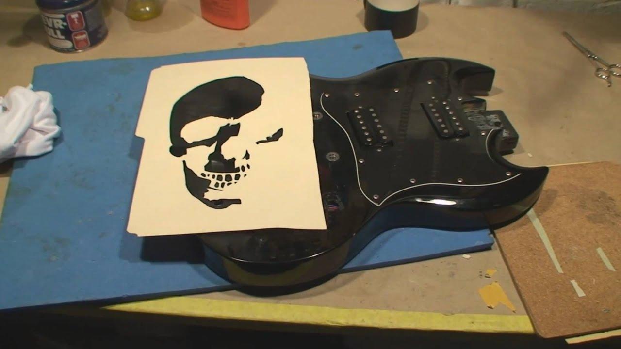 Guitar Output Jack Repair And Custom Paint Job Fun