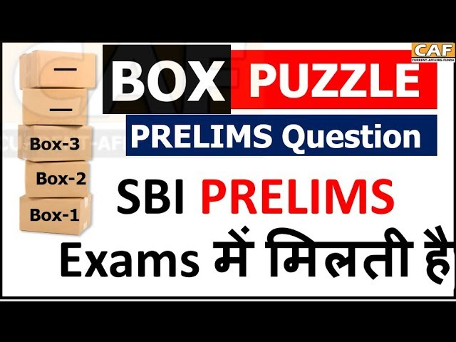 SBI PRELIMS LEVEL || Box Based Puzzle in Hindi and ENGLISH || Time 4 to 5  Minute