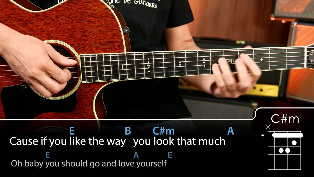 Love Yourself Chords Tutorial Guitarra Guitar Youtube