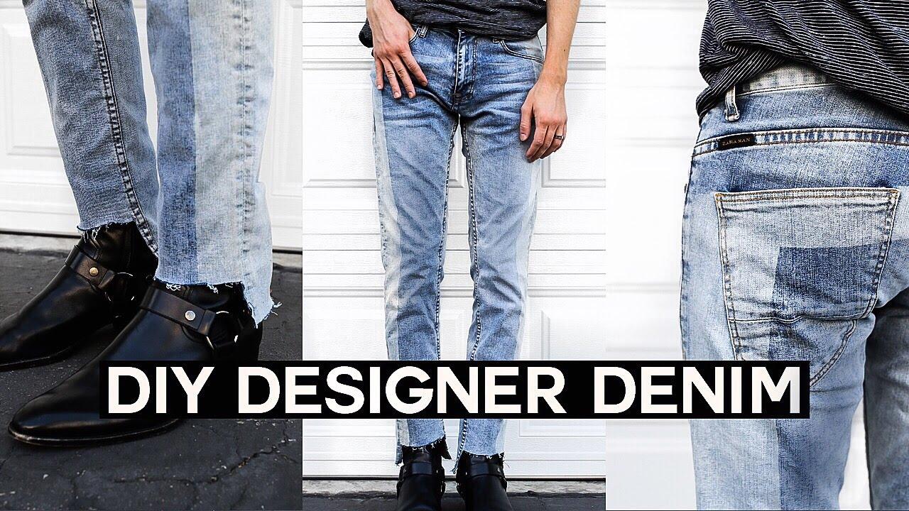diy vetements inspired denim jeans upcycled denim youtube. Black Bedroom Furniture Sets. Home Design Ideas