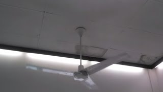 Dayton/Leading Edge and Airmaster Industrial/Commercial Ceiling Fans in a Hardware Store