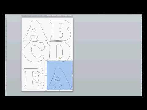 Cómo hacer un molde de letra