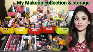 MY MAKUP COLLECTION & STORAGE 2017 || SHYSTYLES