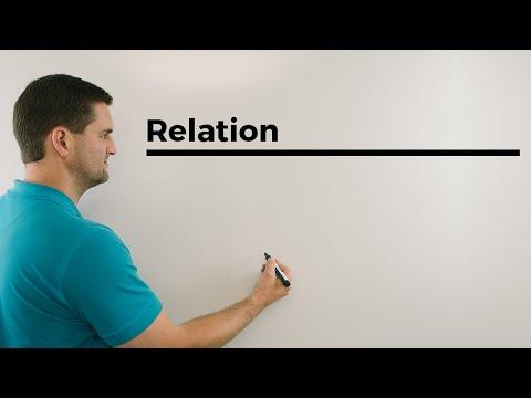 Relation mit Mengen X und Y in R2, Mathematikhilfe online, Erklärvideo | Mathe by Daniel Jung