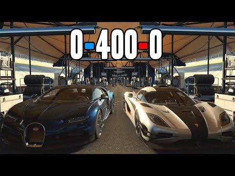 Forza Motorsport 7 | 0-400-0 : Bugatti vs Koenigsegg vs Hennessey