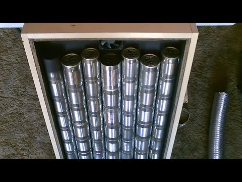 "Homemade ""Steel Can"" Solar Air Heater! DIY - STEEL CAN Air Heater! (140F+) - EASY Instructions!"