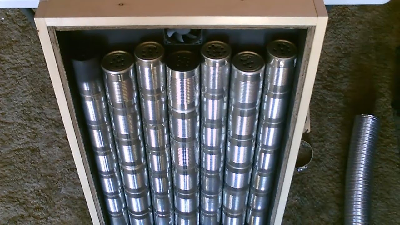 Homemade Quot Steel Can Quot Solar Air Heater Diy Steel Can Air