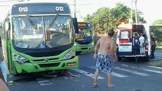 Acidente Moto e ônibus    Canoas RS