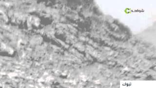 ثلوج كثيفة تغطي مساحات كبيرة بمنطقة تبوك السعودية