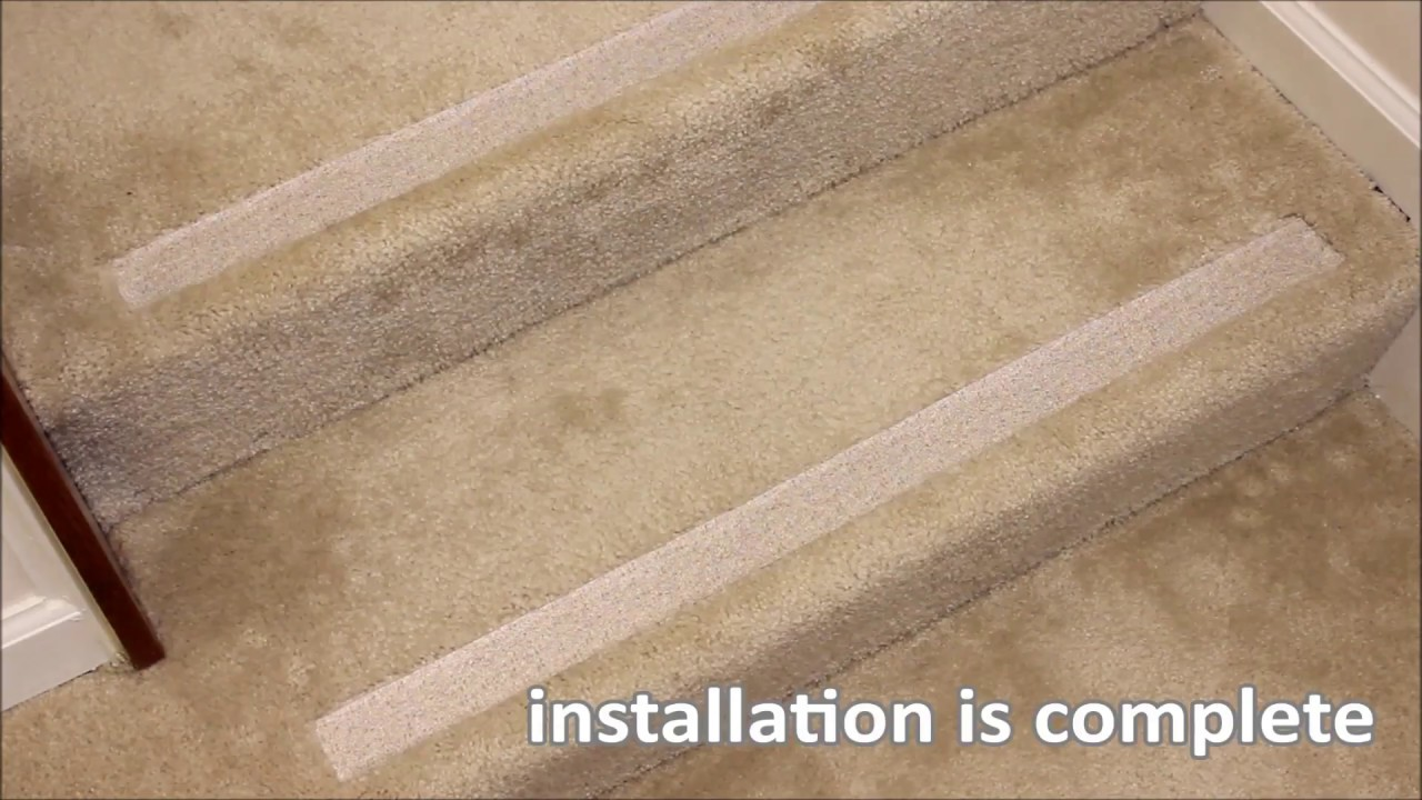 No Slip Strips Installation Video Full Length Youtube   No Slip Strips For Carpeted Stairs   Hardwood   Traction   Brown Cinnamon   Tread Nosing   Flooring