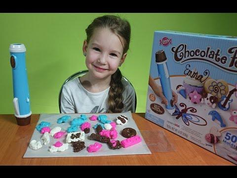 Шоколадная ручка и очень много конфет  Chocolate pen Candy craft
