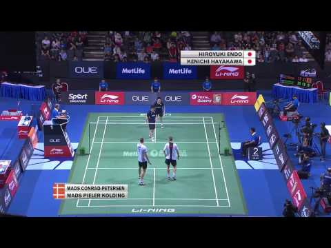 H. Endo/K. Hayakawa vs M. C-Petersen/M. P Kolding | MD QF Match 4 - OUE Singapore Open 2015