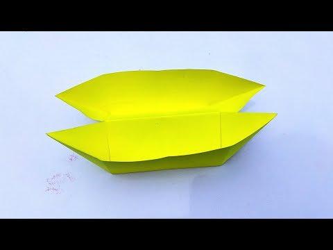 PAPER DOUBLE BOAT || ORIGAMI BOAT || DIY