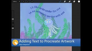 Adding Text to Procreate Artwork with Inkpad