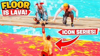 WE WON THE NEW *ICON SERIES* SKIN (Floor is Lava)