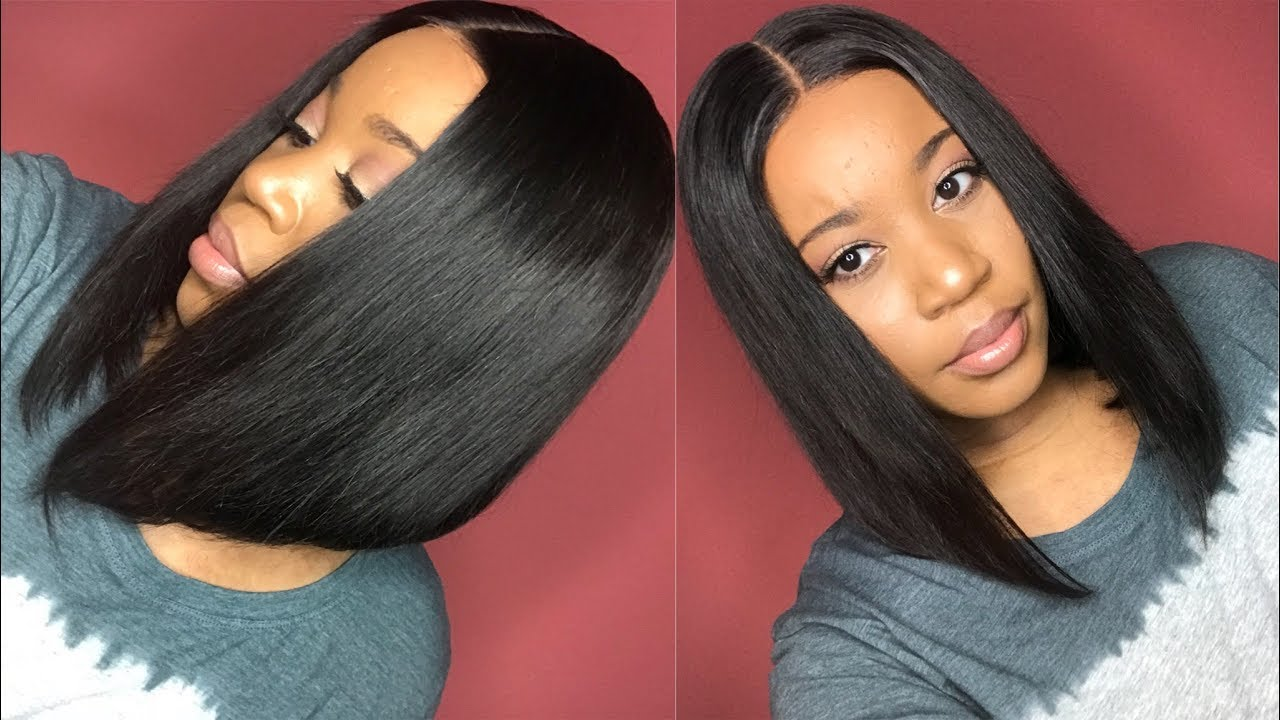 12 inch straight bob lace front wig i 200% density i yoowigs