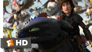 How to Train Your Dragon 2 (2014) - Toothless vs. The Bewilderbeast Scene (10/10) | Movieclips