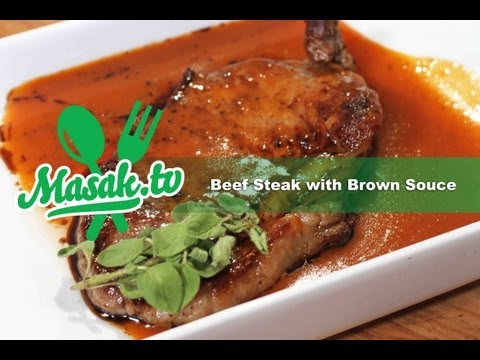 Beef Steak with Brown Sauce | Resep #015