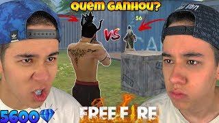 X1 COM MEU IRMÃO VALENDO 5600 DIAMANTES NO FREE FIRE!! (Deu treta!)