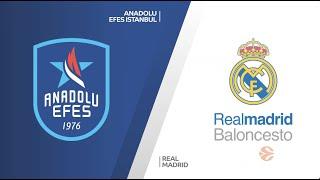 EuroLeague Playoff 2. Maç: Anadolu Efes - Real Madrid
