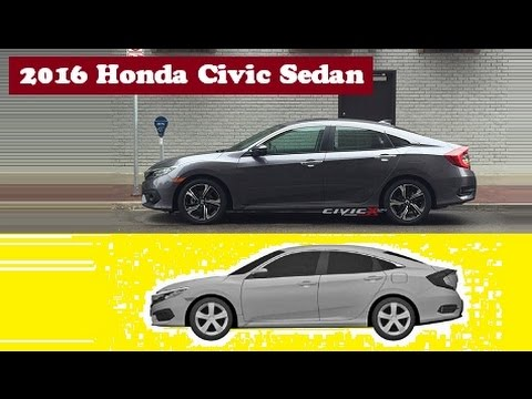 2016 Honda Civic Sedan, captured out in the streets clearly no camo before its debut