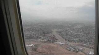 Landing at McCarran International Airport in Las Vegas