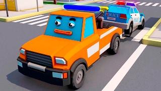 La Petite Dépanneuse et Le Camion de pompier - Dessin animé français - Drôles Voitures