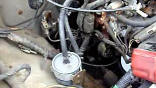 1987 Nissan Pickup Special Edition Z24 motor rev