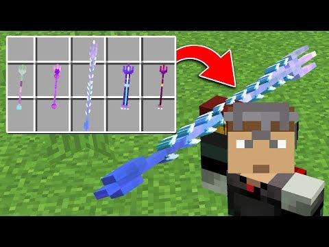 5 NEW Trident Weapons! Minecraft 1.13 Snapshot Update
