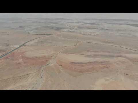 Bird's eye view of Israel's Negev Desert / DJI Mavic Air