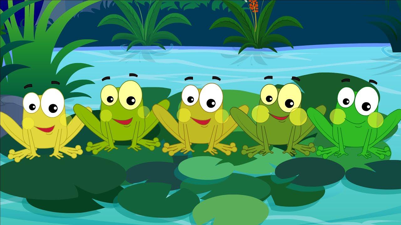 Cinco Poco Froggies Cinco Pequeñas Ranas Nursery Rhymes