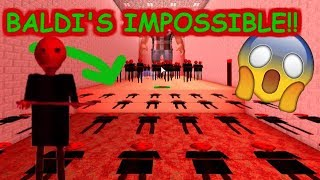 NOUS AVONS À PASS BALDI'S IMPOSSIBLE!! | The Weird Side of Roblox: Baldi's Basics Obby