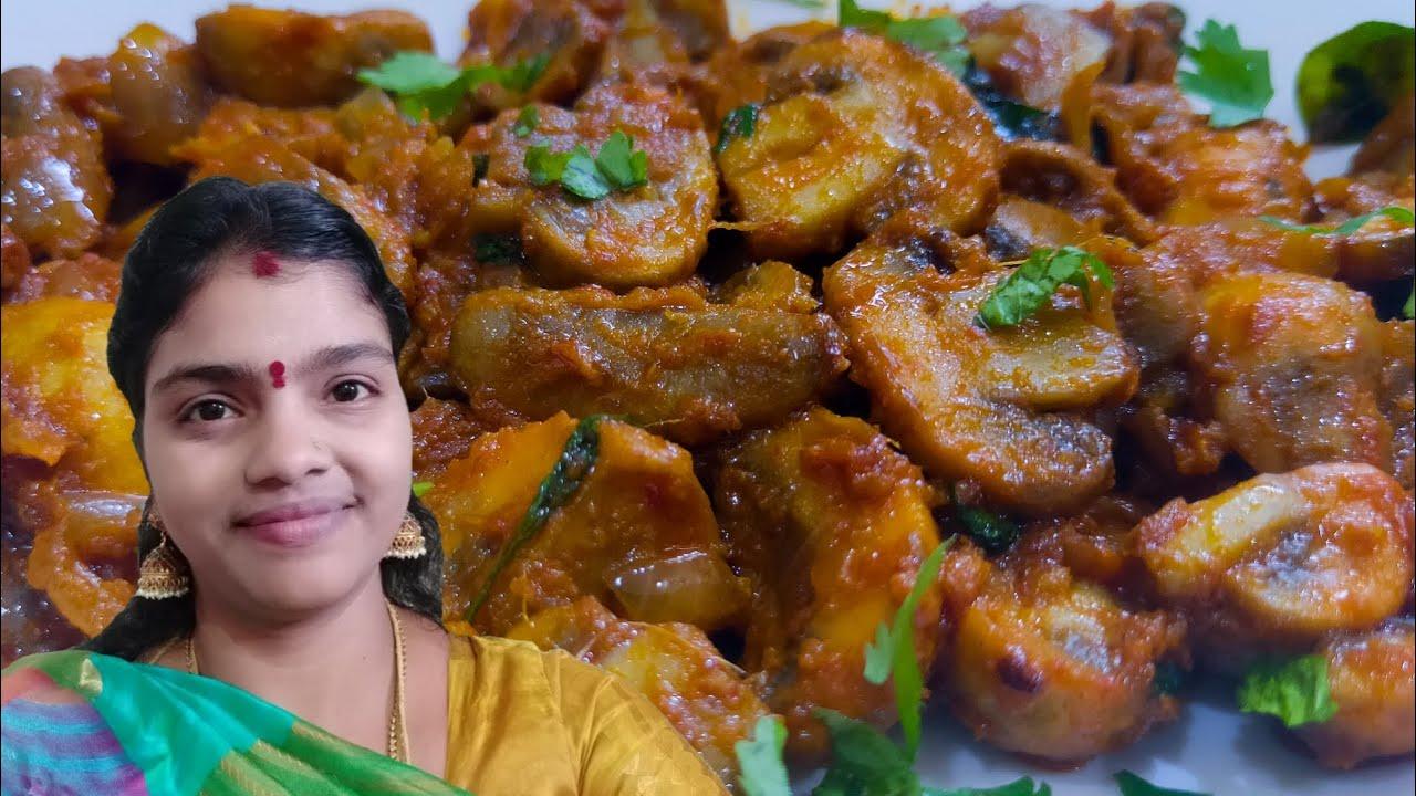 காளான் வறுவல் ஒரு முறை இப்படி செஞ்சி பாருங்க | Spicy Garlic Mushroom Recipe in Tamil | Kalan recipe