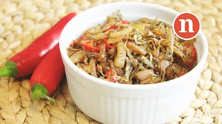 Fried Anchovies with Onions [Nyonya Cooking]
