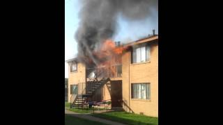 Fort Worth, Texas Apartment Fire Attack Video