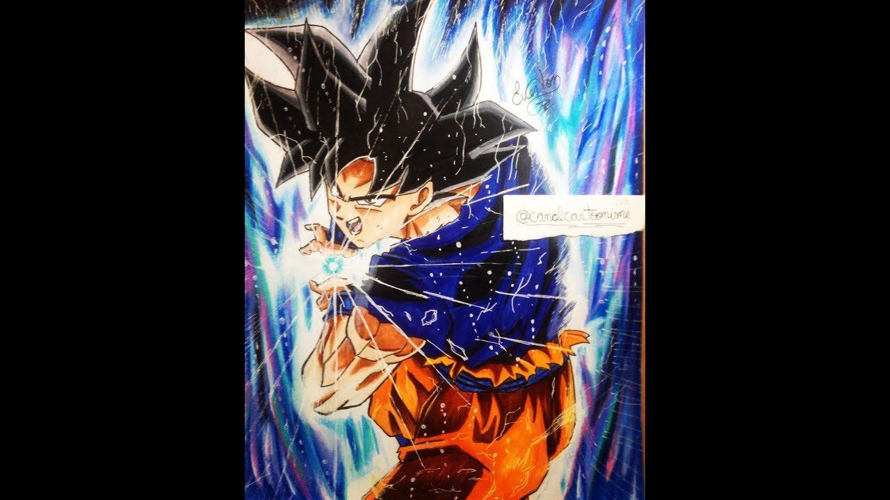 Speed drawing goku ultra instinct kamehameha dragon ball super youtube - Goku ultra instinct sketch ...